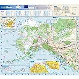 """Alaska State Wall Map - 16.75"""" x 15.25"""" Paper"""