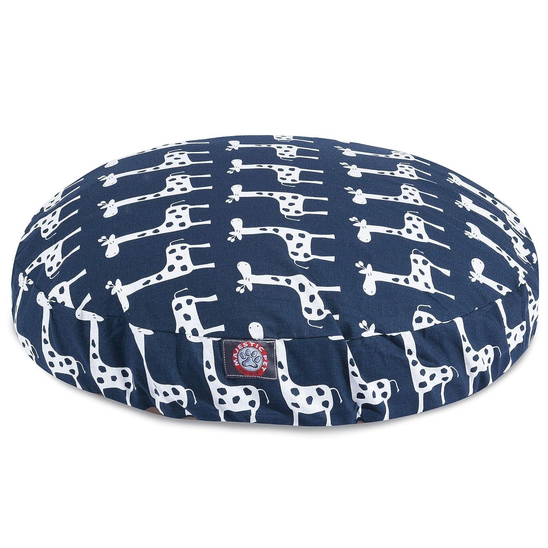 Navy bluee Medium Navy bluee Medium Majestic Pet Stretch Navy bluee Medium Round Pet Bed