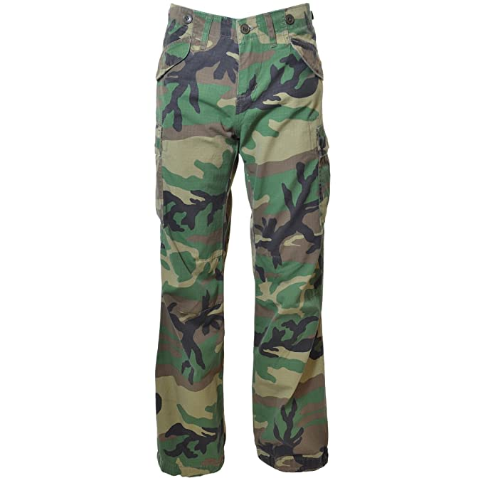 88804ae0 Molecule Women's Jungle Jeans Relaxed Fit Mid Rise Camouflage Cargo Trousers  | UK 2/XS