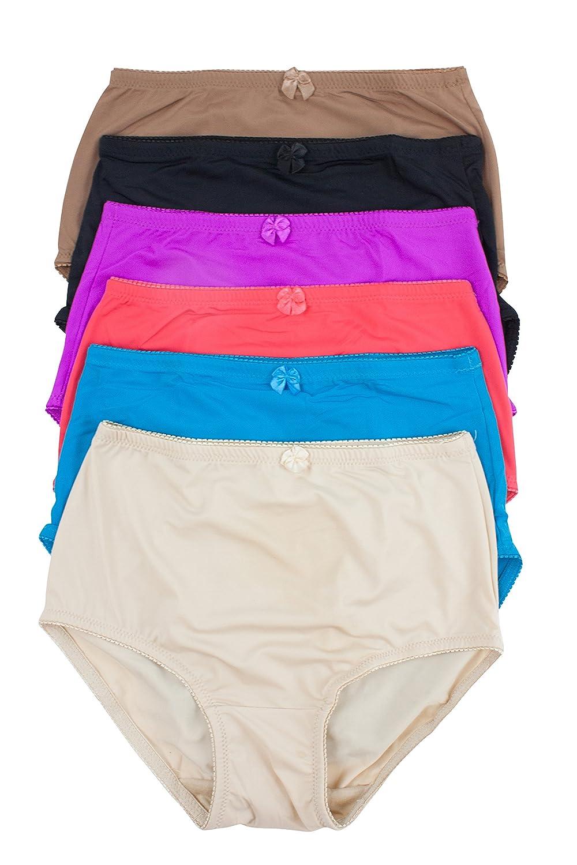 f0ceb9b2c1d48 Barbra Lingerie Women s 6 Pack High Waist Cool Feel Brief Underwear Panties  S-5xl at Amazon Women s Clothing store