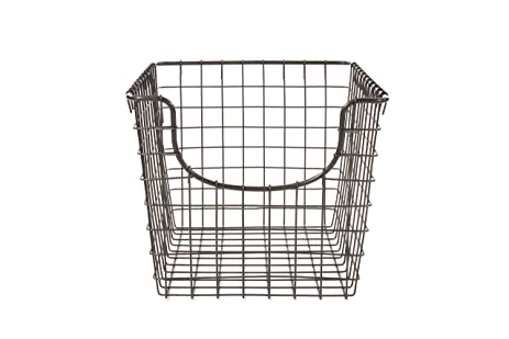 Spectrum Diversified Scoop Storage Basket, Small, Industrial Gray