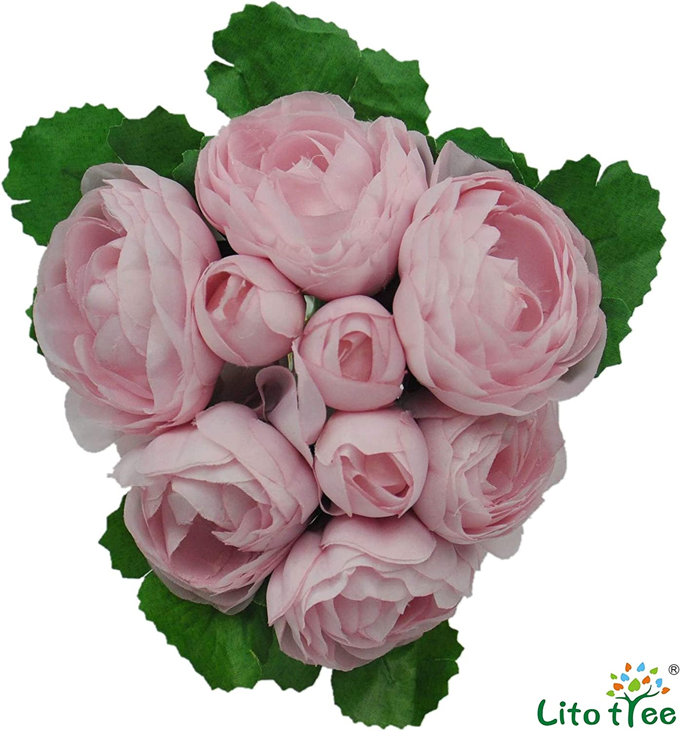 """9 flowers 2/"""" Satin Silk Flowers with Leaves   3 bouquet of flowers select color"""