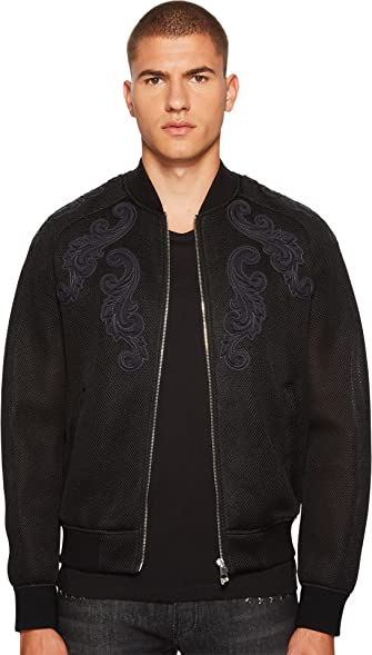 Versace men's leather jacket for sale