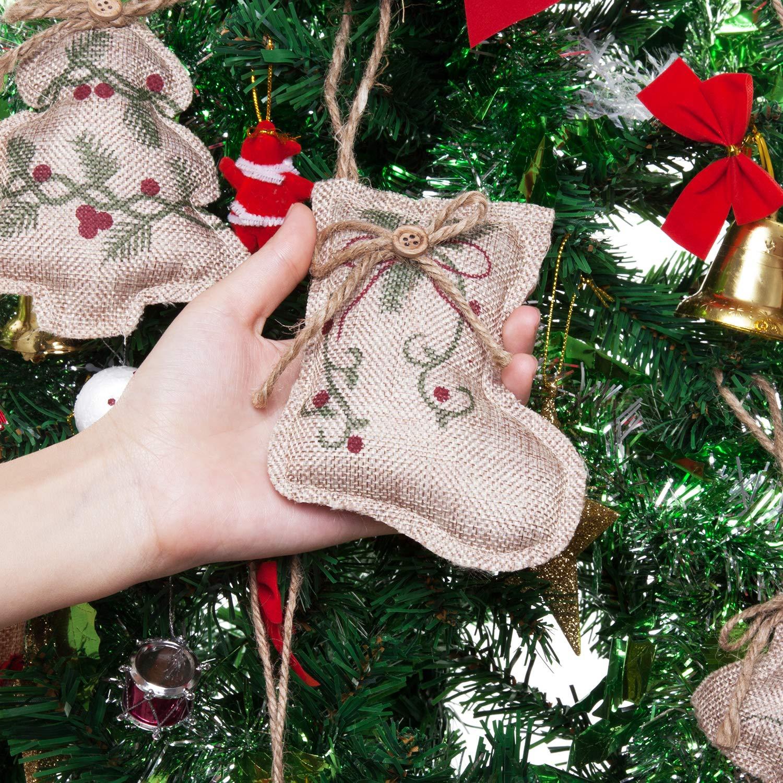 Beige Catrne 8 Piezas de Adornos para el /árbol de Navidad Decoraciones Colgantes de Navidad Bola de siembra Forma de Estrella de /árbol para la Fiesta de Navidad Decoraci/ón para el hogar