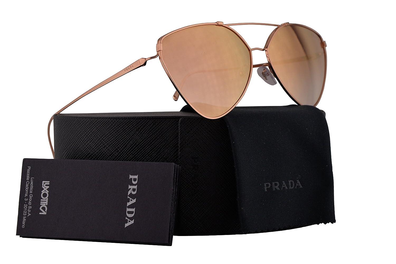 f759ade61e7b Amazon.com  Prada PR51US Sunglasses Pink Gold w Gradient Pink Mirror Pink  62mm Lens SVFAD2 SPR51U PR 51US SPR 51U  Clothing