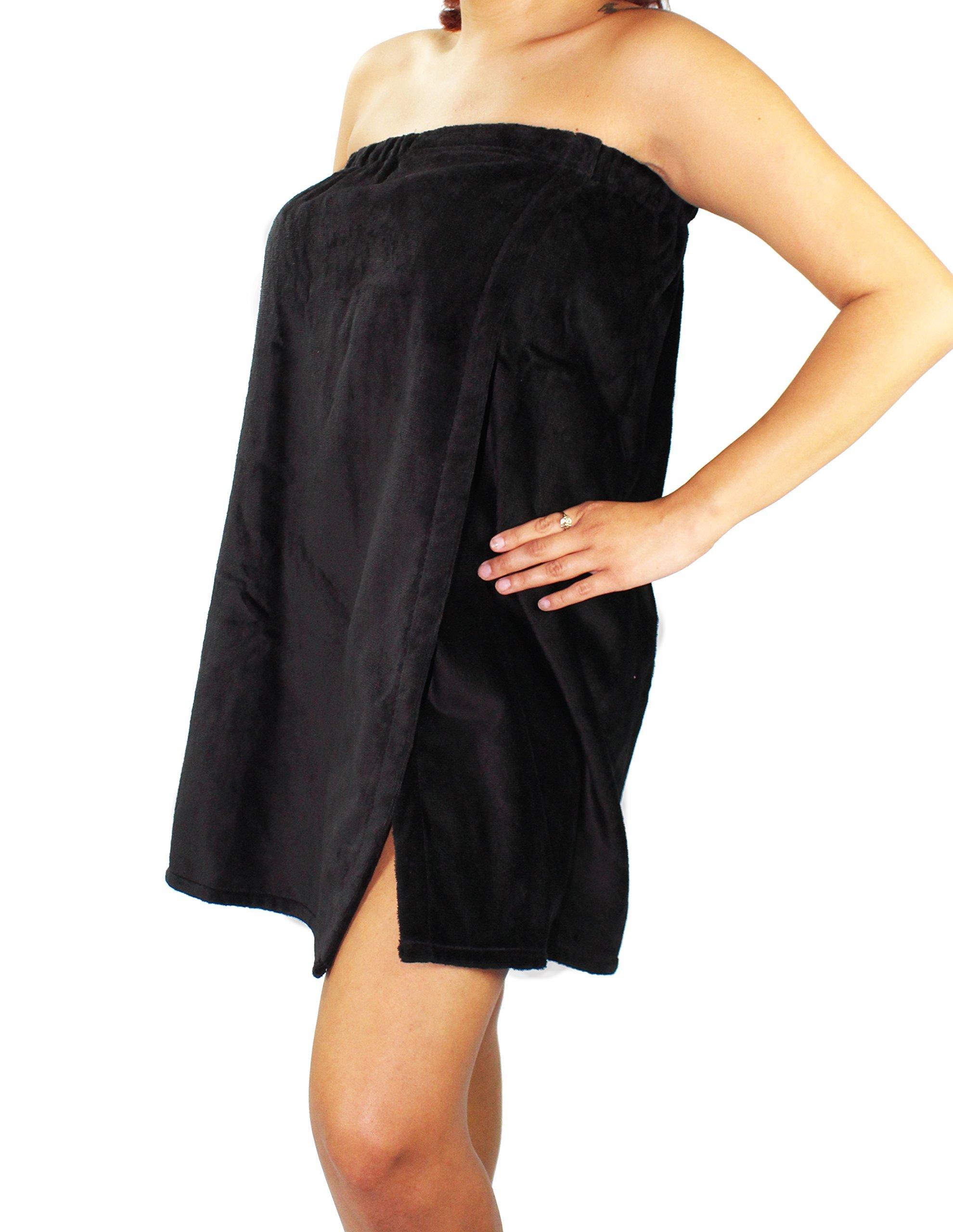 Sanders Classics 25'' Terry Towel Wrap - Black