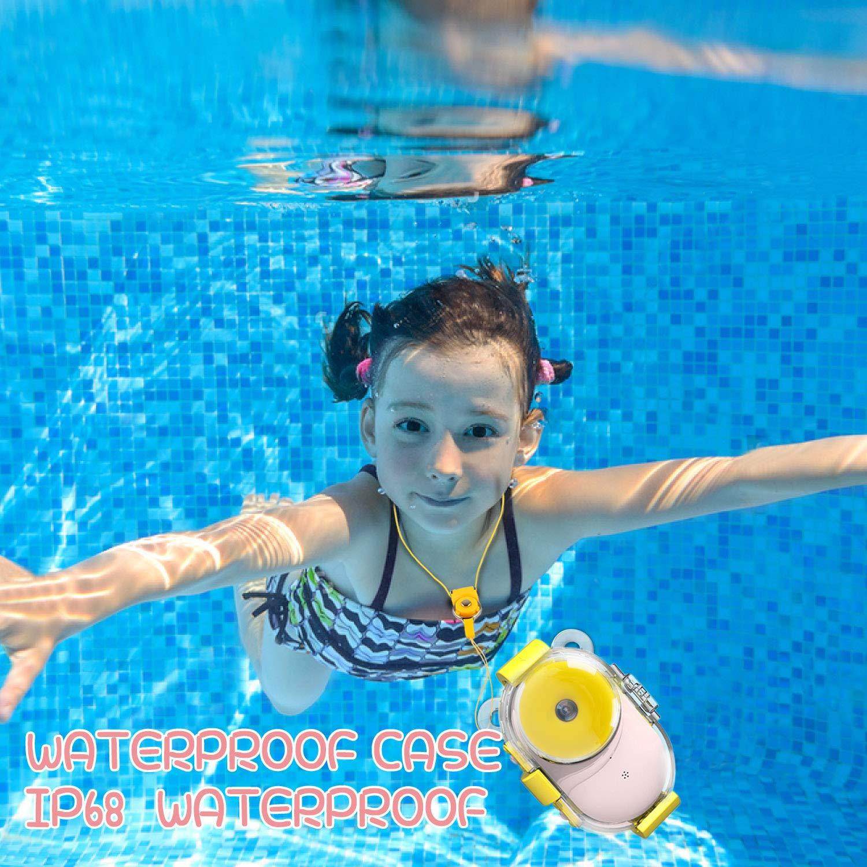 Kids Camera Underwater Digital Camera,HD 1080P IP68 Waterproof Toddler Camera Video Recorder Action Camcorder,8X Digital Zoom,2.4 inch IPS Display with 16G Memory Card & Waterproof Case by LeaderPro (Image #2)
