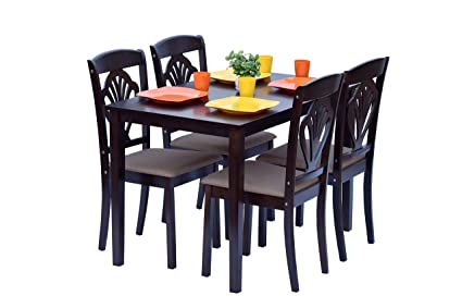 4 seater dining table contemporary deckup vivanta four seater dining table set rubber wood wenge wenge
