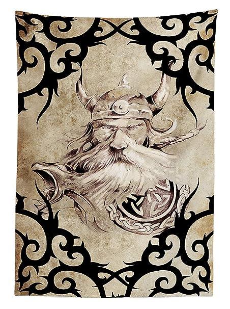 Yeuss Viking Mantel, diseño de Tatuaje con Silueta de Viento ...