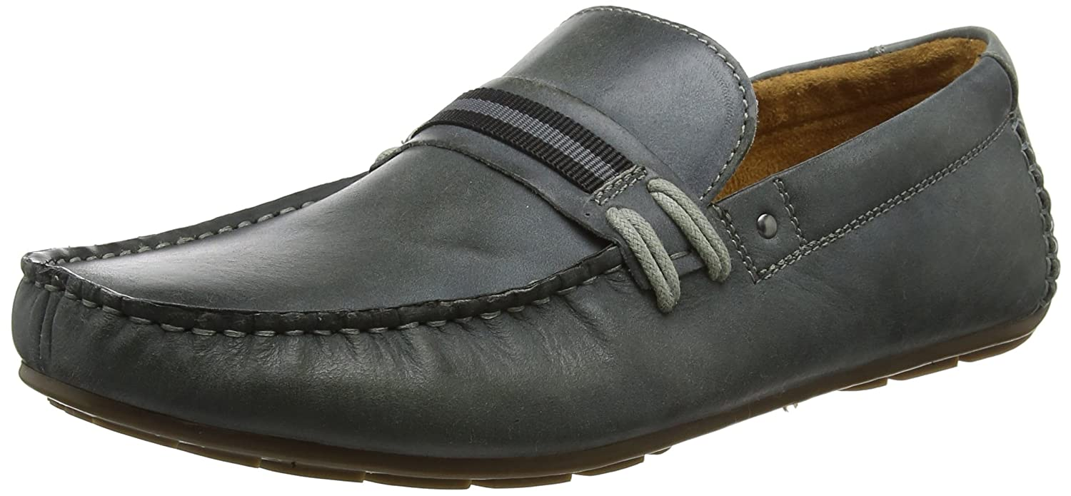 Steve Madden Gander Loafer, Mocasines para Hombre 42 EU|Gris (Light Grey 01027)
