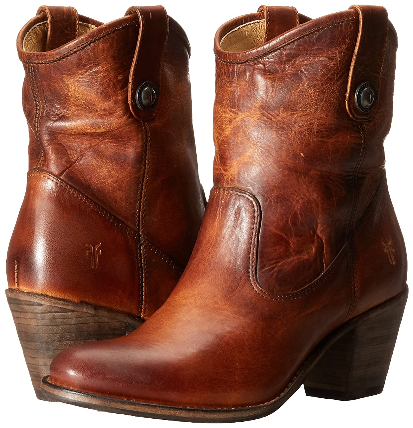 FRYE Women's Jackie Button Short Boot B00TPUMRL6 7.5 B(M) US|Cognac-76593