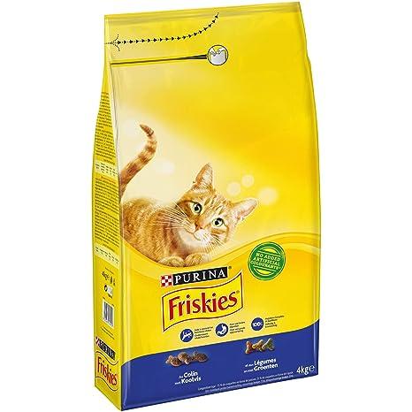 Purina Friskies Pienso para Gato Adulto Bacalao y Verduras 4 x 4 Kg