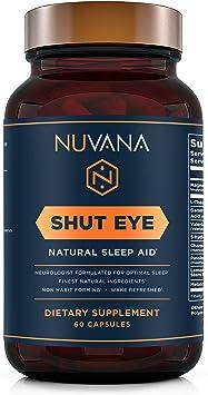 Amazon.com: Shut Eye Sleep Aid | Suplemento natural para ...