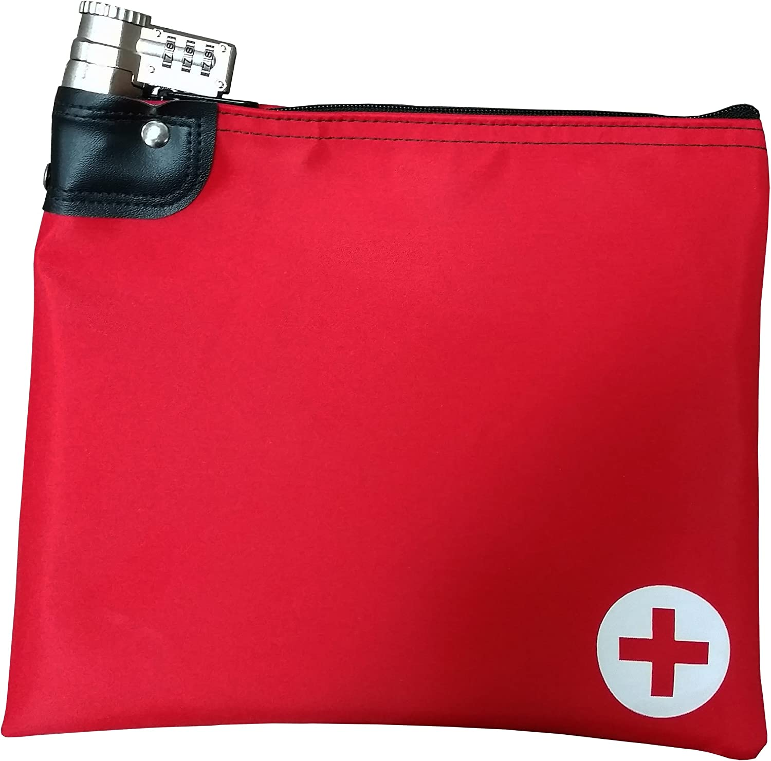 Medication Safety Bag Combination Keyed Lock (Red)