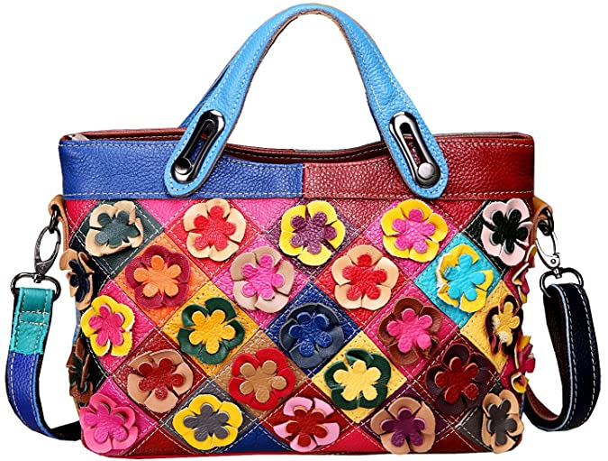 Heshe Womens Multi-color Shoulder Bag Hobo Tote Handbag Cross Body Purse(2B4030)