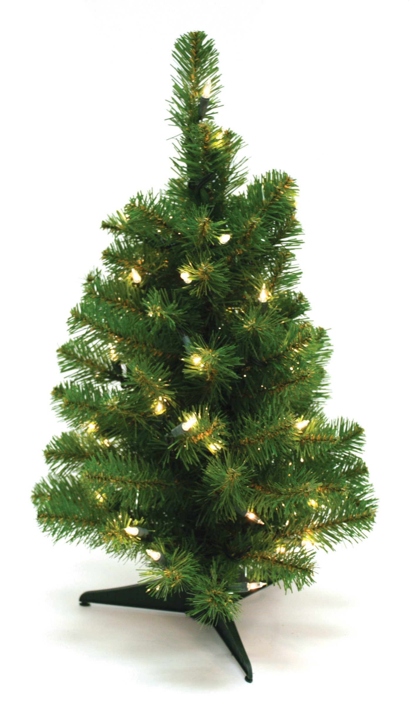 Special Happy Corp LTD Canadian Artificial Prelit Tabletop Christmas Tree, 2-Feet, Clear Lights