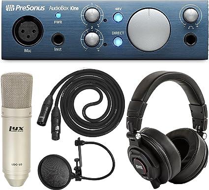 PreSonus AudioBox iOne 2x2 USB iPad or PC Mac Audio Interface /& Free Software