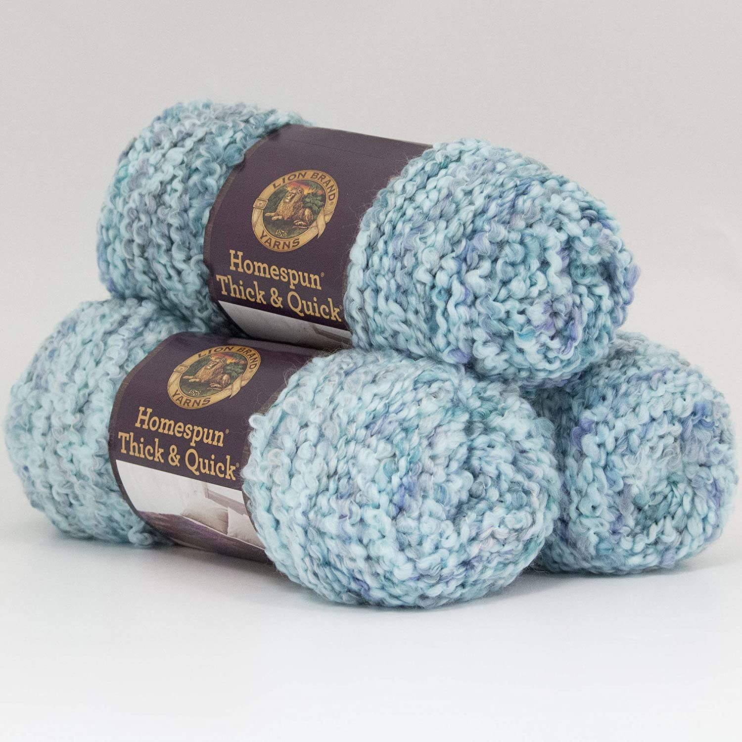 Lion Brand Yarn 792-407 Homespun Thick and Quick Yarn Painted Desert