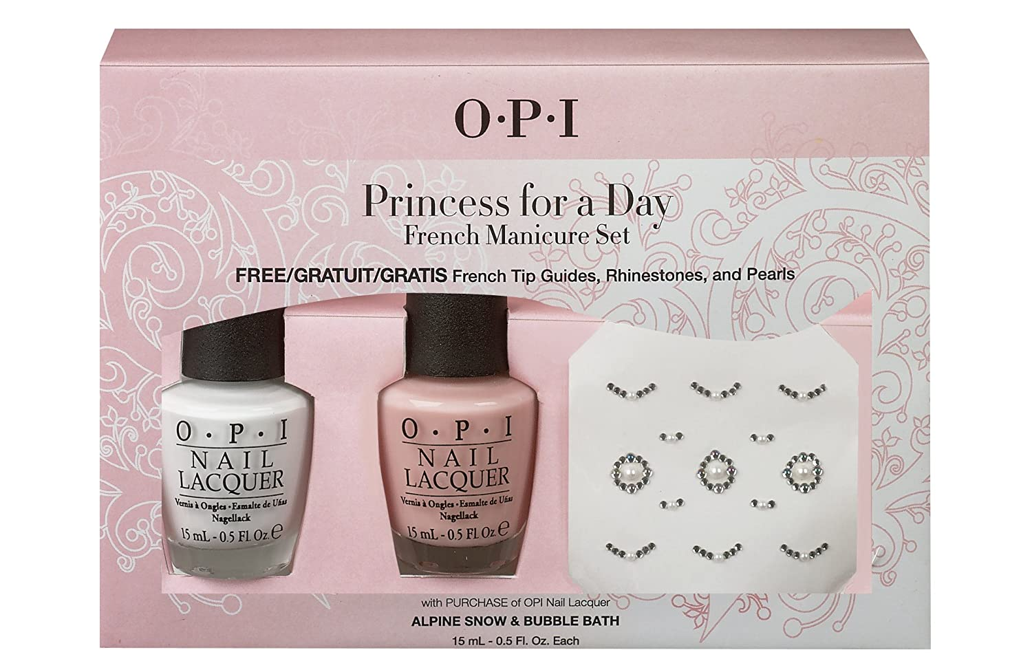 OPI Nail Lacquer - French Manicure Set - Princess For A Day - FREE ...