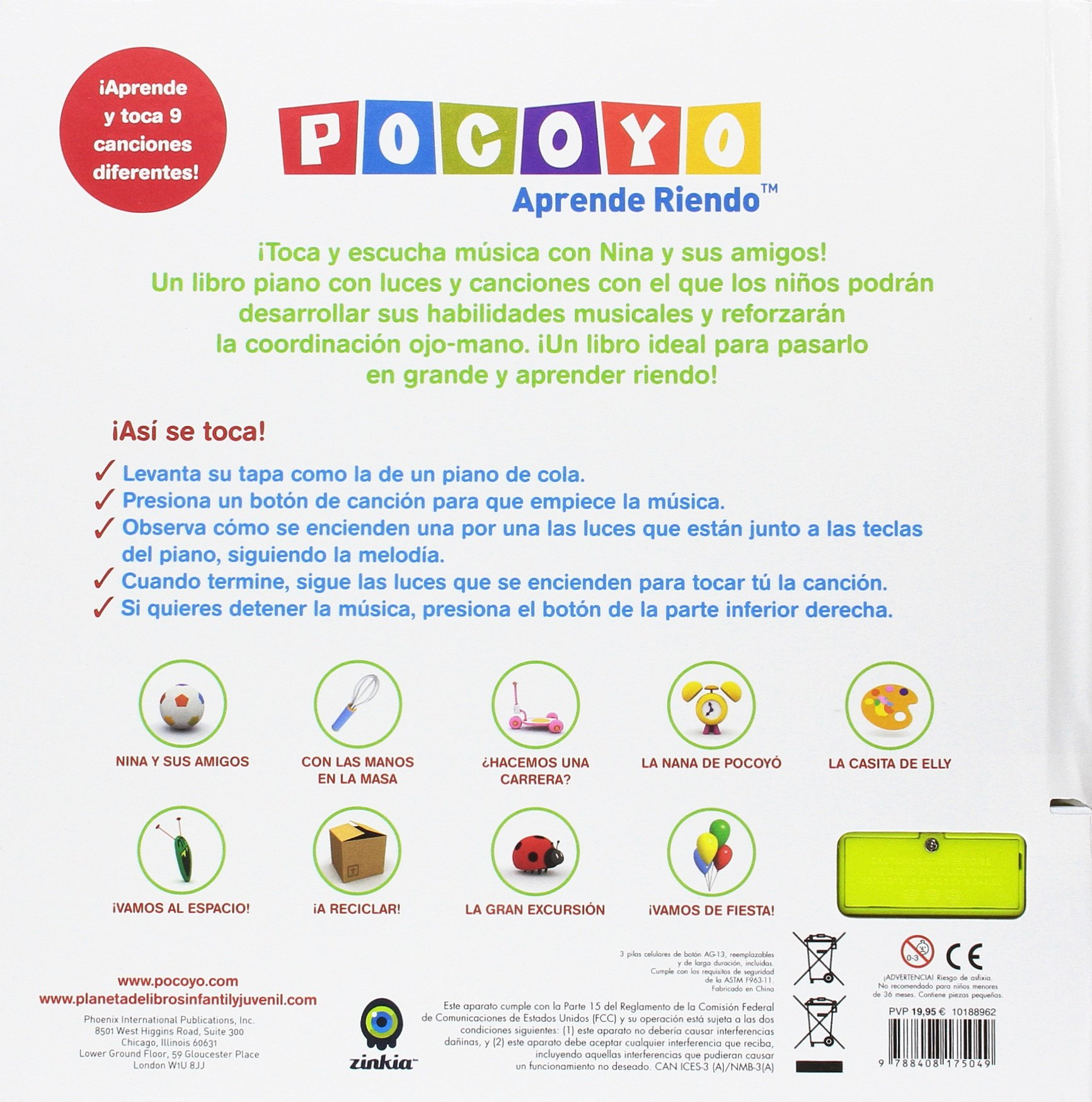 Pocoyó. El piano de Nina (Pocoyo): Amazon.es: Zinkia Entertainment S. A.: Libros