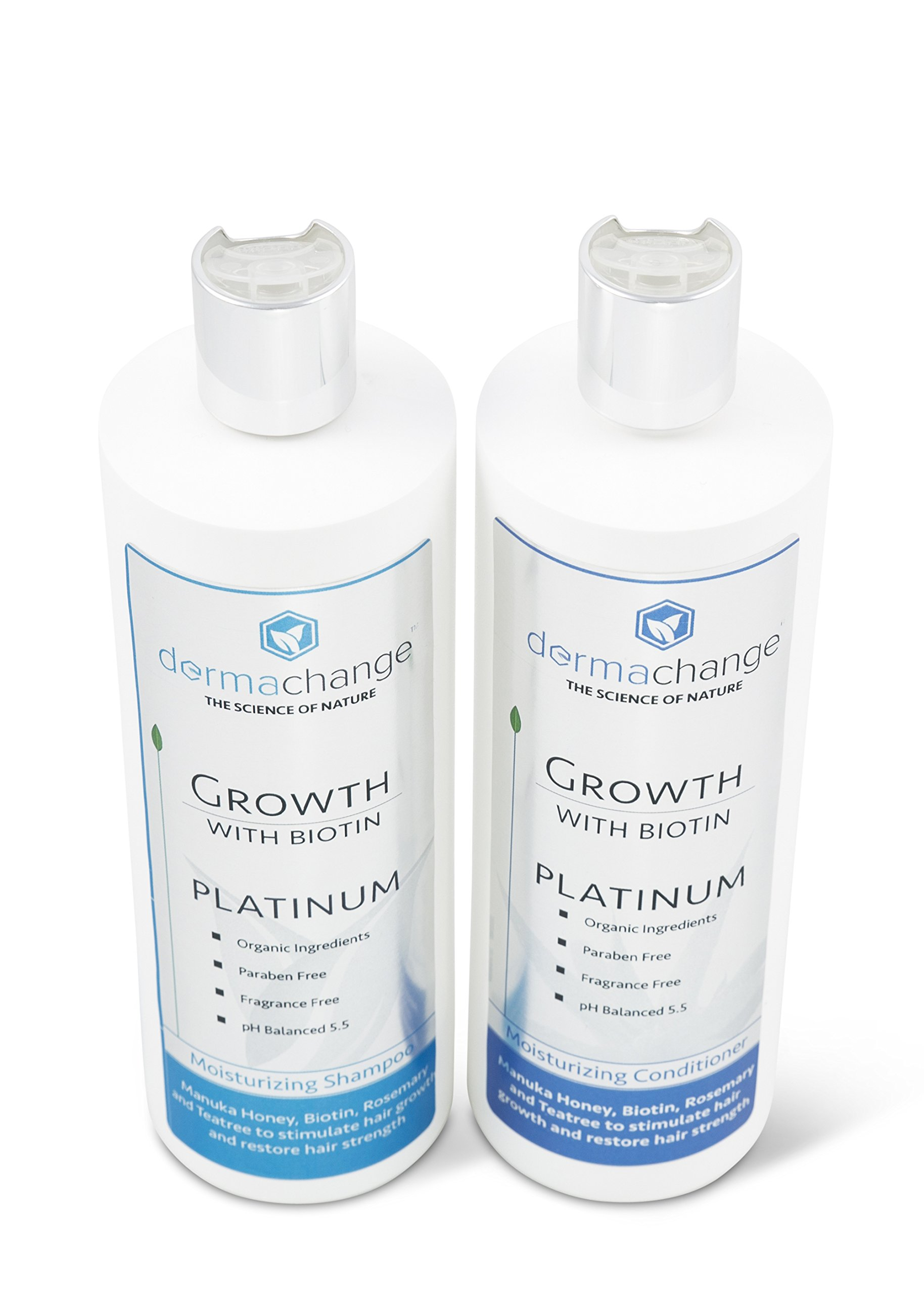 DermaChange Platinum Hair Growth Moisturizing Conditioner - With Argan Oil, Biotin & Tea Tree Extract - Supports Hair Regrowth - Hair Loss Treatments (16 oz) - Made in USA by DermaChange (Image #4)