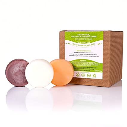 Conditioner Bar for All Hair Types - Perfect Travel Bar Conditioner for Hair - Vegan Solid Conditioner Bar for Lush Full and Frizz Free Hair by Clever ...