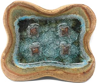product image for Dock 6 Pottery with Glass Soap Dish, Sienna