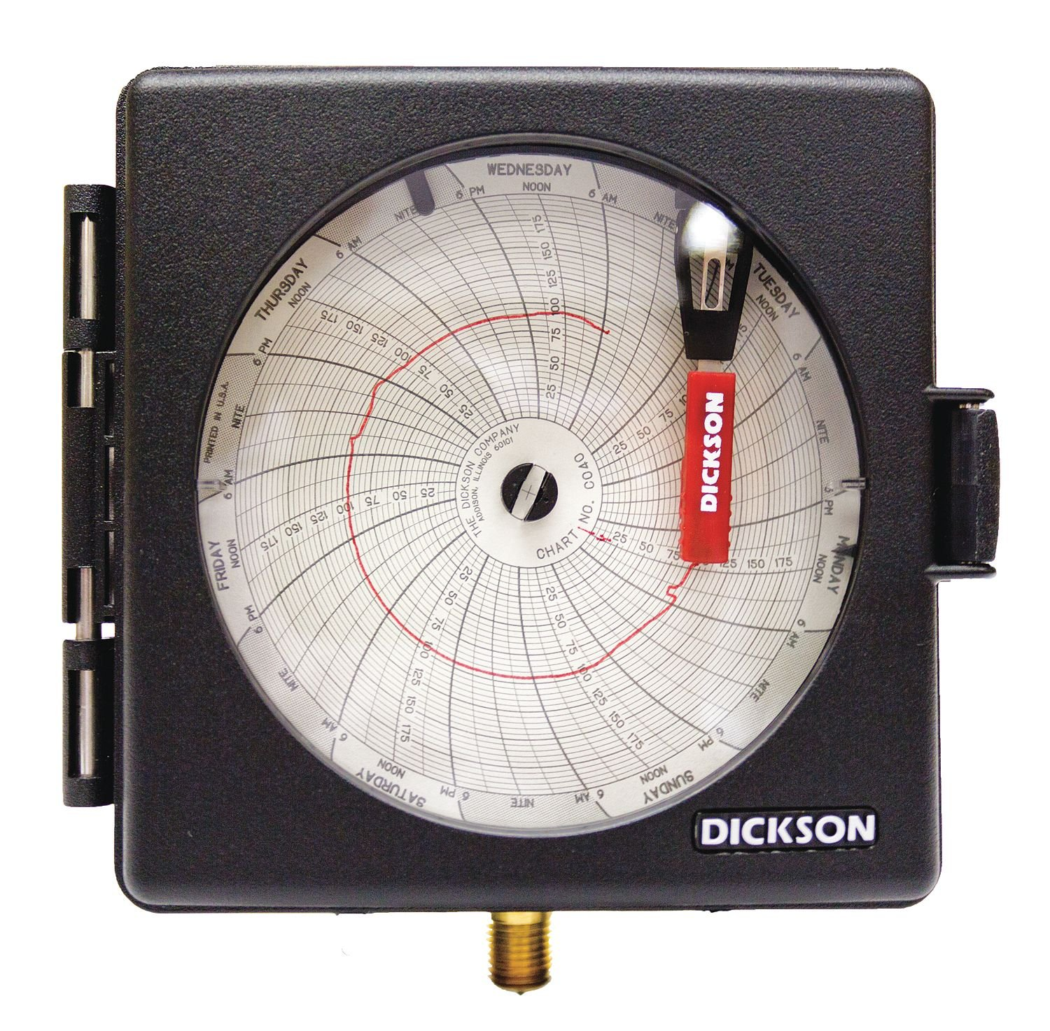 Dickson PW474 Pressure Chart Recorder, 0 to 200 PSI