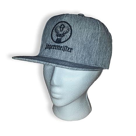 03dc78f01f24a Amazon.com  Jagermeister Skater Style Hat w Flat Bill - Grey  Sports    Outdoors