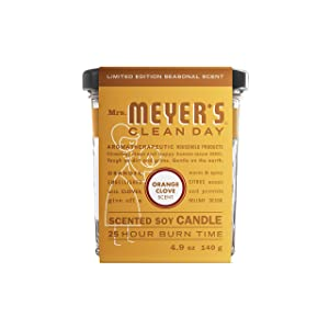 Mrs. Meyer's Soy Candle, Orange Clove, 4.9 Oz