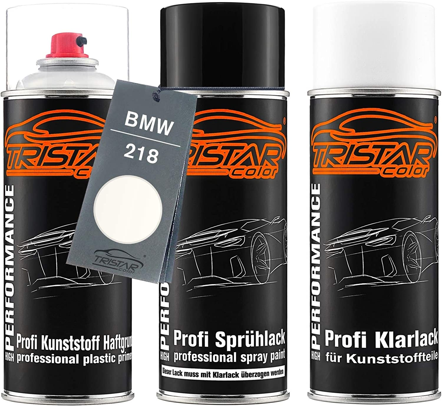 Car Paint Spray Set Of 3 Boxes Plastic Bumper Bmw Alpine White Ii 218 Alpinweiss Ii Acts As A Base Base Coat Clear Lacquer With Plasticiser Spray Auto