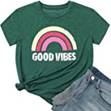 Hellopopgo Women's T Shirts Summer Casual Tops Graphic Tops Cotton Casual Loose Tees