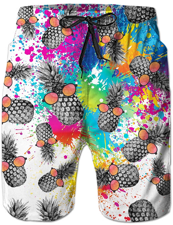 TALLA XX-Large. Loveternal Hombre Pantalones Cortos de Playa Secado Rápido Bañador Estampado Beach Shorts
