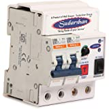 SUDARSHAN Single Phase 2 Pole ELCB + RCCB + ISI Marked MCB 32 A with High Voltage, Overload Protection, Current 3 to 30 Ma (Shock Guard)