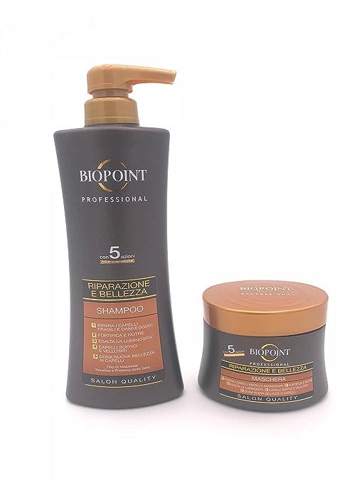 Biopoint Kit pelo Reparación y belleza Champú 400 ml + Máscara 250 ml | Linea Professional