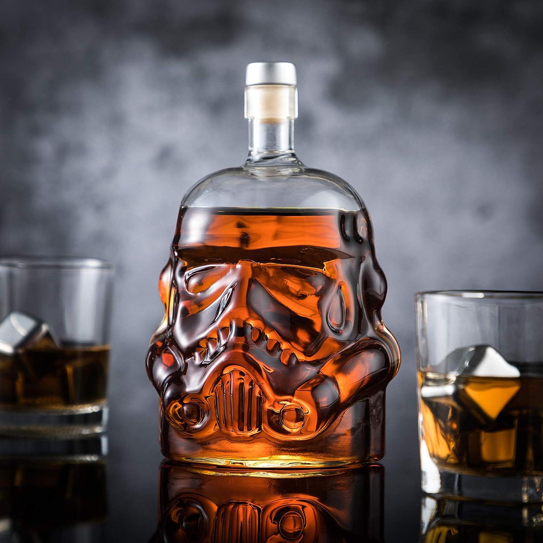 Whisky Decanter Storm Trooper Helmet Star Wars Skull Glass Bottle Brandy Carafe