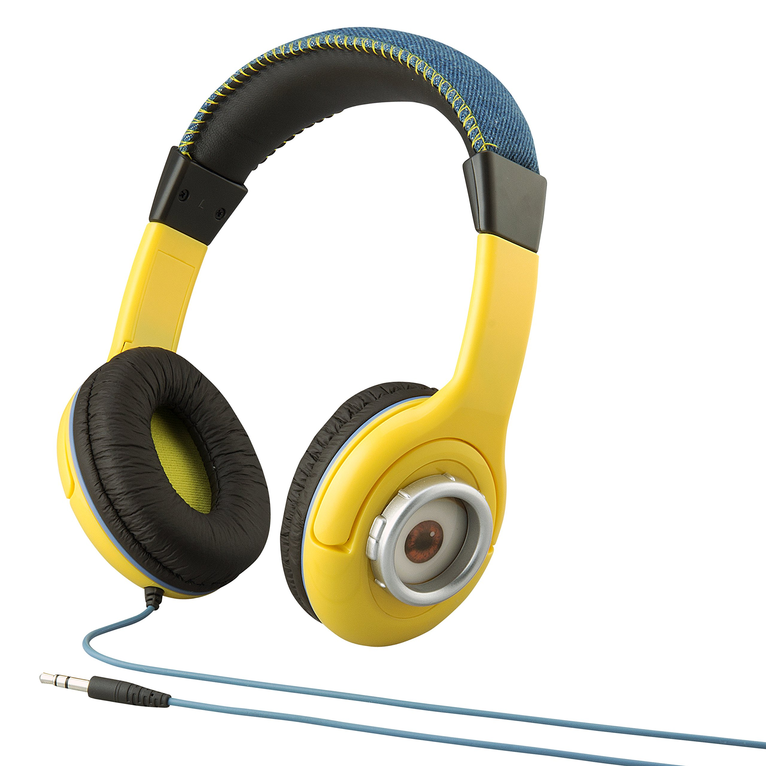 Minions Despicable Me Kid Friendly Headphones with Built in Volume Limiting Feature for Safe Listening