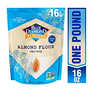 Blue Diamond Almonds Almond Flour, Gluten Free, Blanched, Finely Sifted, 1 Lb
