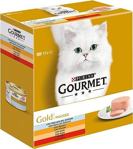 Purina Gourmet Gold Mousse comida para gatos Surtido 8 x 85 g ...