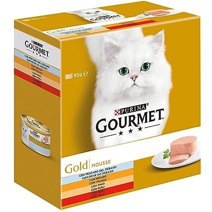 Purina Gourmet Gold Mousse comida para gatos Surtido 12 x [8 x 85 g]: Amazon.es: Productos para mascotas