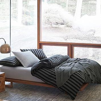 Marc O Polo Flanell Bettwäsche Classic Winter Stripe 155x220 Cm