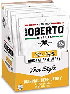 product image for Oh Boy! Oberto Classics Thin Style Original Beef Jerky, 1.2 Ounce (Pack of 8)