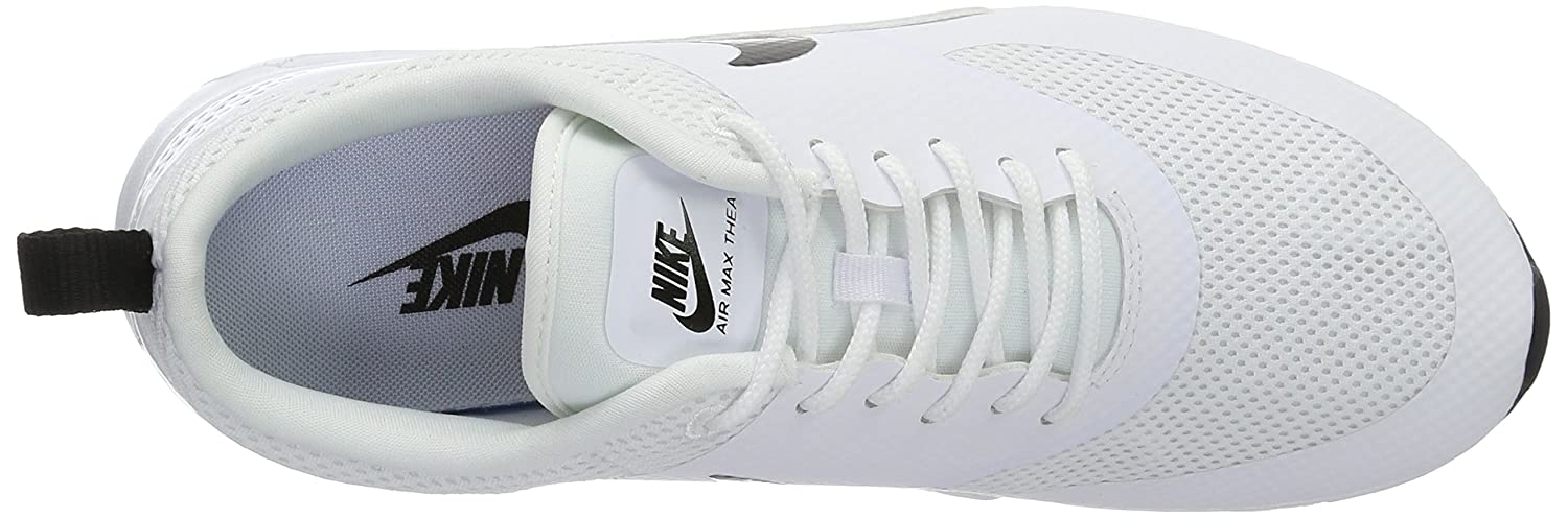 NIKE Women's Air Black Max Thea Low-Top Sneakers, Black Air B0187PXQ0U 5.5 B(M) US|White / Pure Platinum-black 61680d