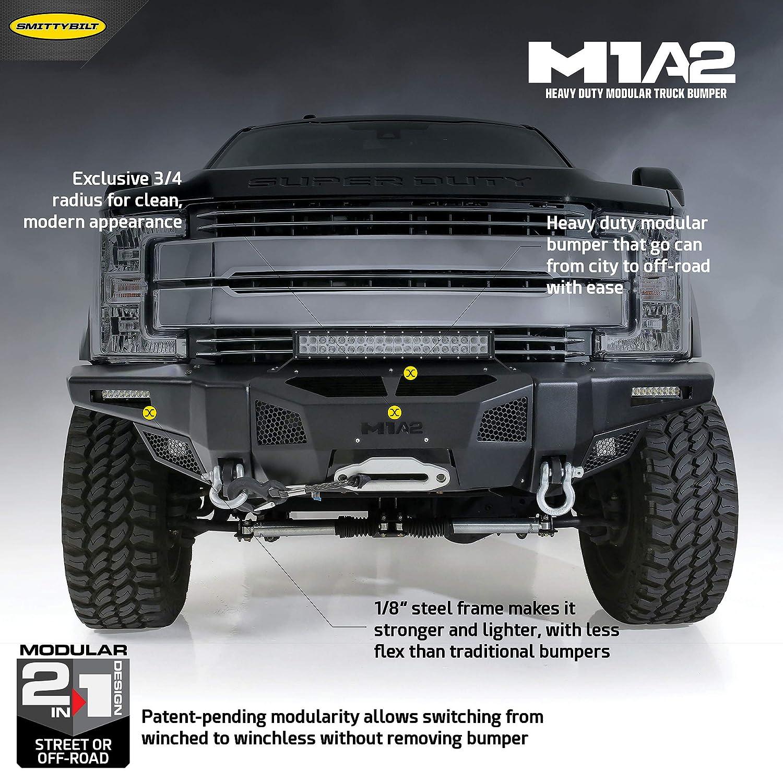Amazon com: Smittybilt 612931 M1A2 Truck Front Bumper 2017