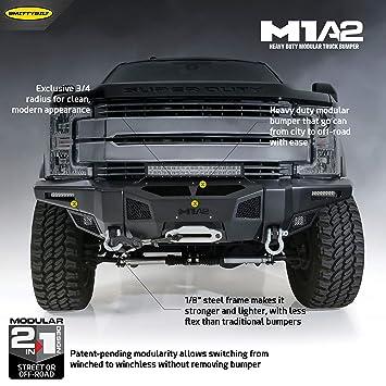 Truck Front Bumper >> Smittybilt 612931 M1a2 Truck Front Bumper 2017 2019 Ford Super Duty