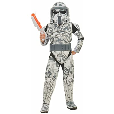 Rubies Star Wars Clone Wars Child's Deluxe Arf Trooper Costume and Mask, Medium: Toys & Games