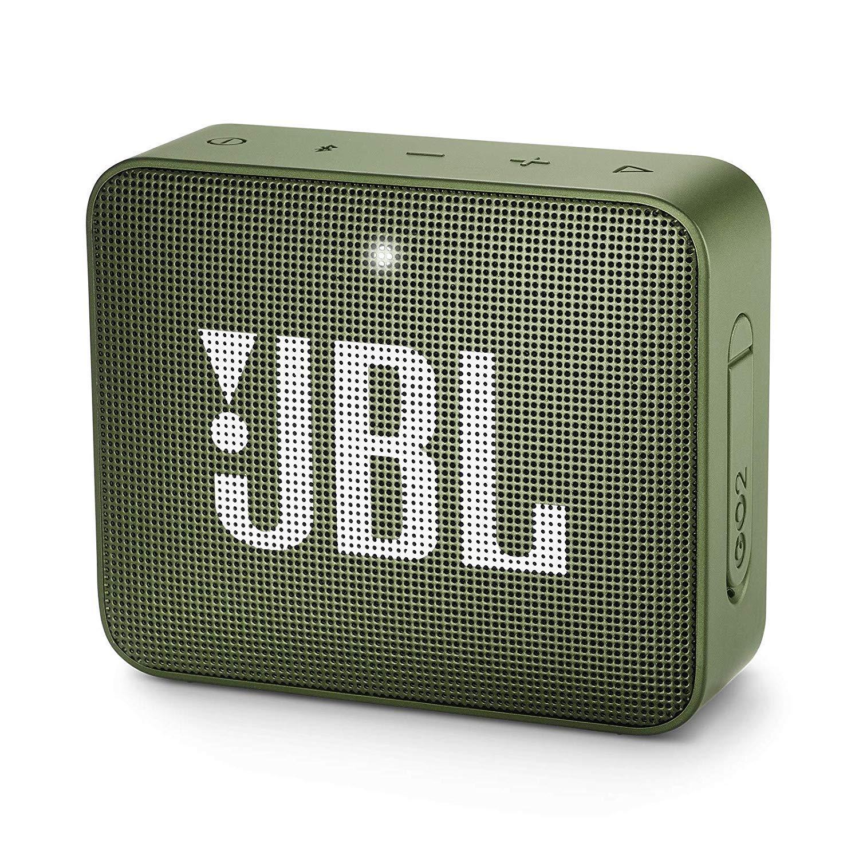 JBL Go 2 Portable Waterproof Bluetooth Speaker With Mic (Moss Green)