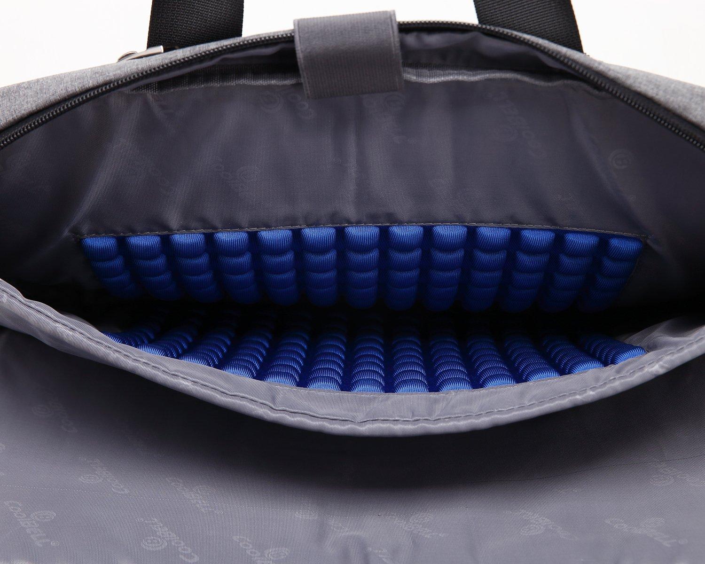 Coolbell Sacoche /à bandouli/ère pour Ordinateur Portable 15,6 en Tissu Oxford Multifonction pour Ordinateur Portable//Macbook//Tablette 15.6 Noir