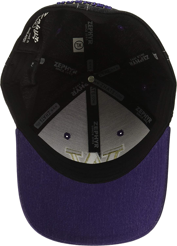 Zephyr Mens Clash Waterproof Performance Cap Purple Medium//Large