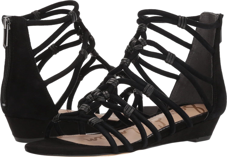 [Sam Edelman] レディース B07691C2RP Black Diva Suede Leather 8 B(M) US